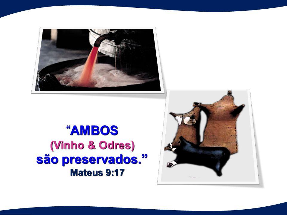 AMBOSAMBOS (Vinho & Odres) são preservados. Mateus 9:17 Mateus 9:17