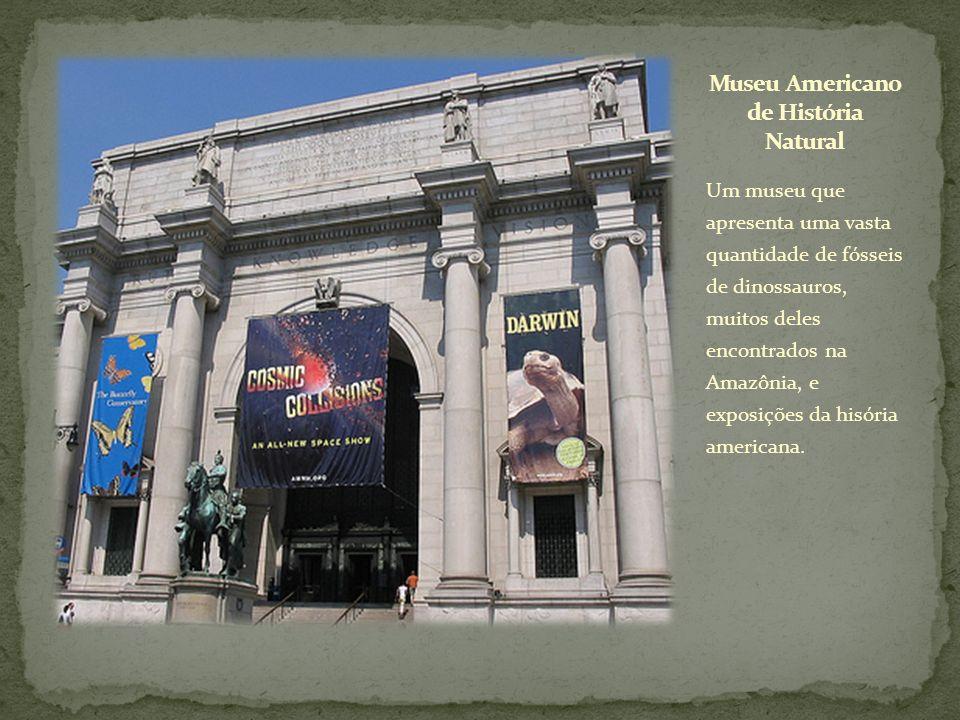 Um museu que apresenta uma vasta quantidade de fósseis de dinossauros, muitos deles encontrados na Amazônia, e exposições da hisória americana.