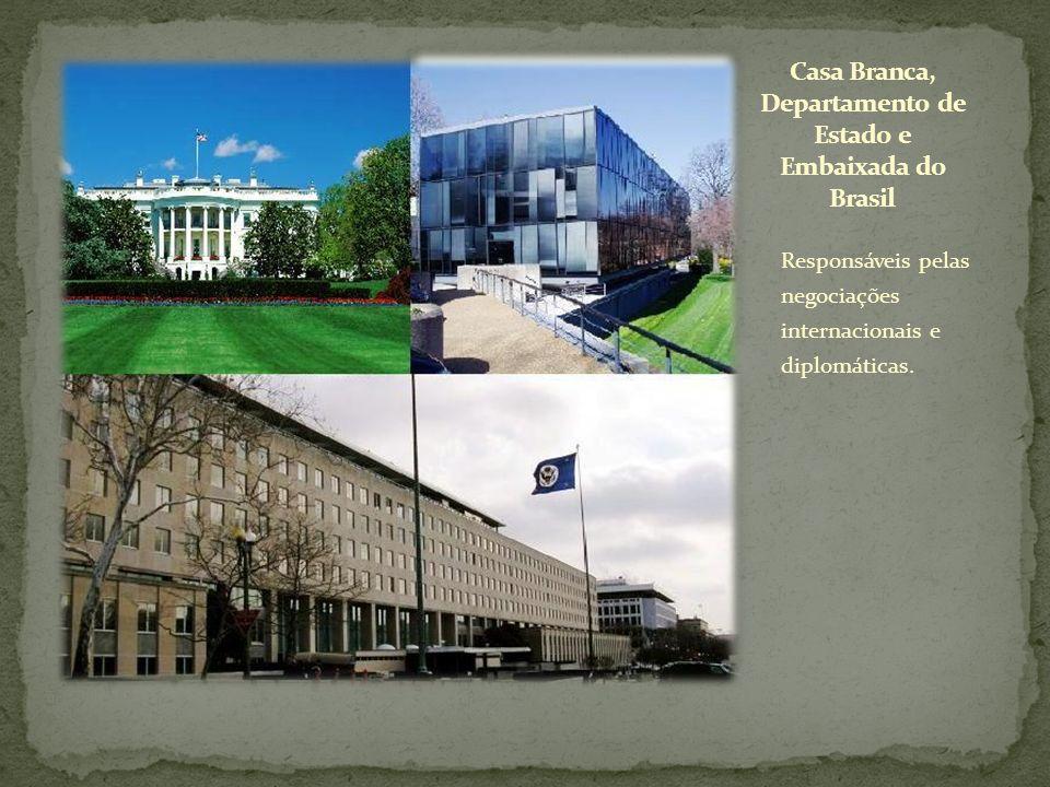 Responsáveis pelas negociações internacionais e diplomáticas.