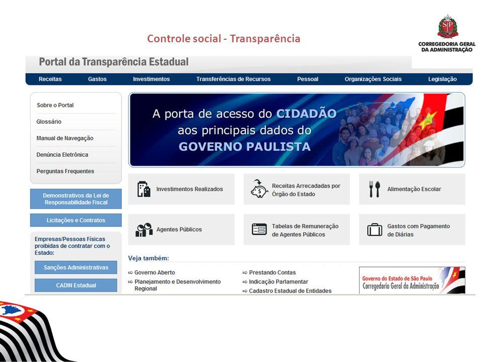 Controle social - Transparência