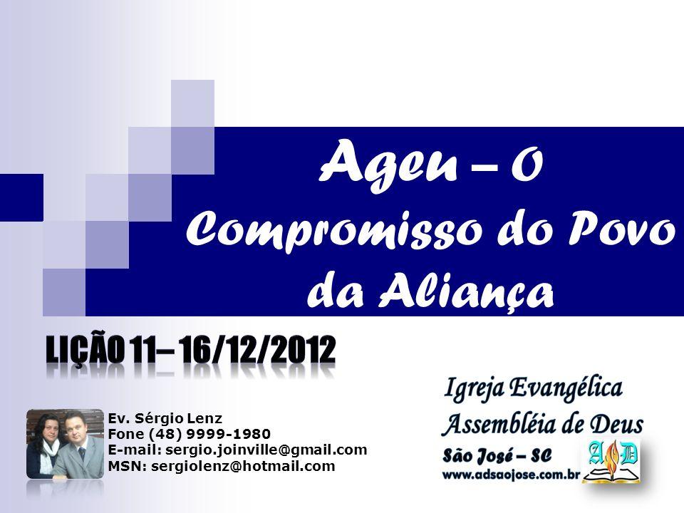 Ageu – O Compromisso do Povo da Aliança Ev.