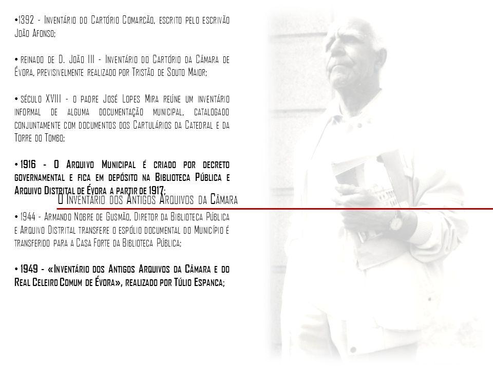 O P LANO DE C LASSIFICAÇÃO 2 P ARTES : C ÂMARA M UNICIPAL III C ELEIRO C OMUM 5 SECÇÕES: -C ONSTITUIÇÃO E E VOLUÇÃO DO CONCELHO - R ELIGIÃO, C ULTURA E A SSUNTOS M ILITARES - A DMINISTRAÇÃO - A RTES E O FÍCIOS - L IVROS DA R ECEITA E D ESPESA