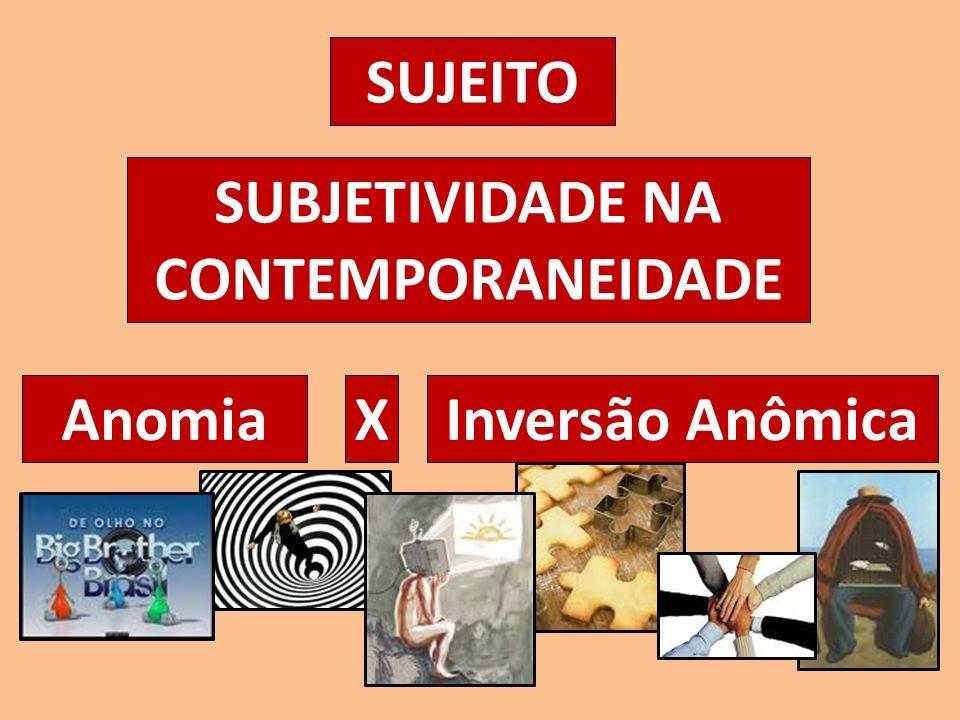 SUJEITO SUBJETIVIDADE NA CONTEMPORANEIDADE AnomiaInversão AnômicaX
