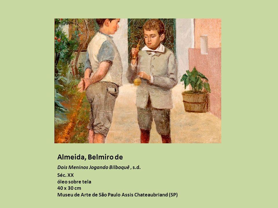 Almeida, Belmiro de Dois Meninos Jogando Bilboquê, s.d.