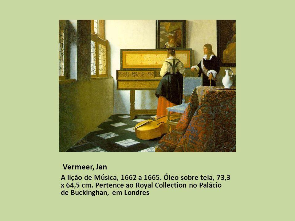 Vermeer, Jan A lição de Música, 1662 a 1665.Óleo sobre tela, 73,3 x 64,5 cm.