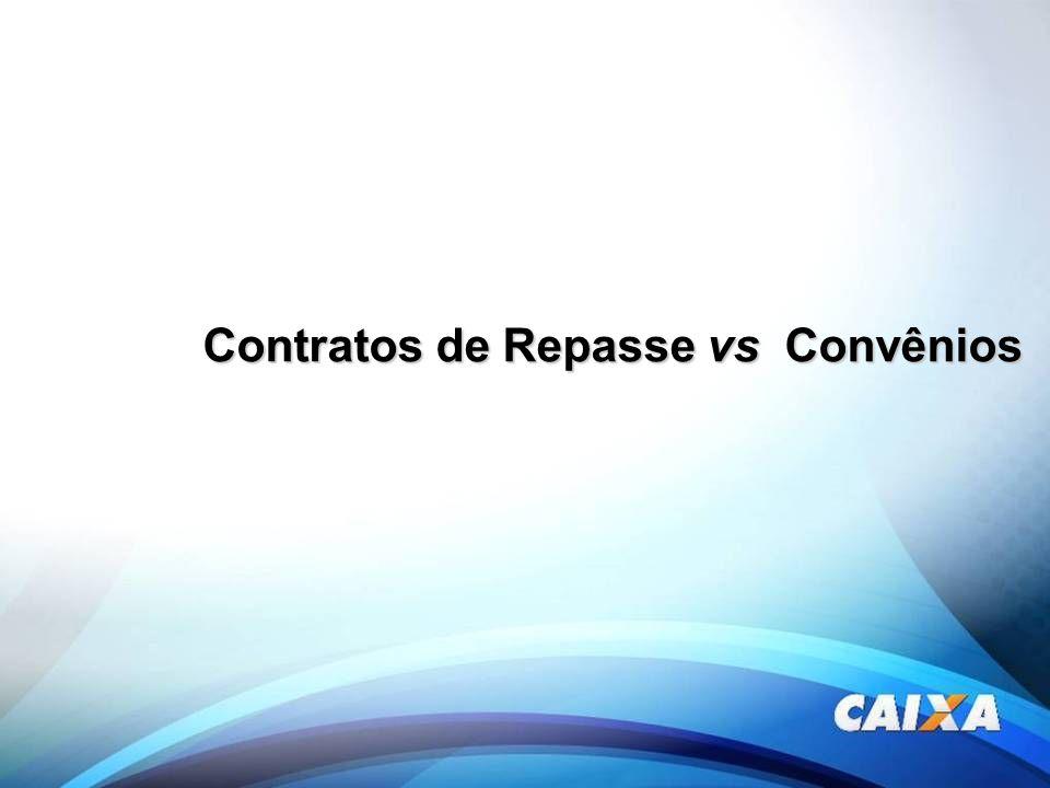 Contratos de Repasse vs Convênios