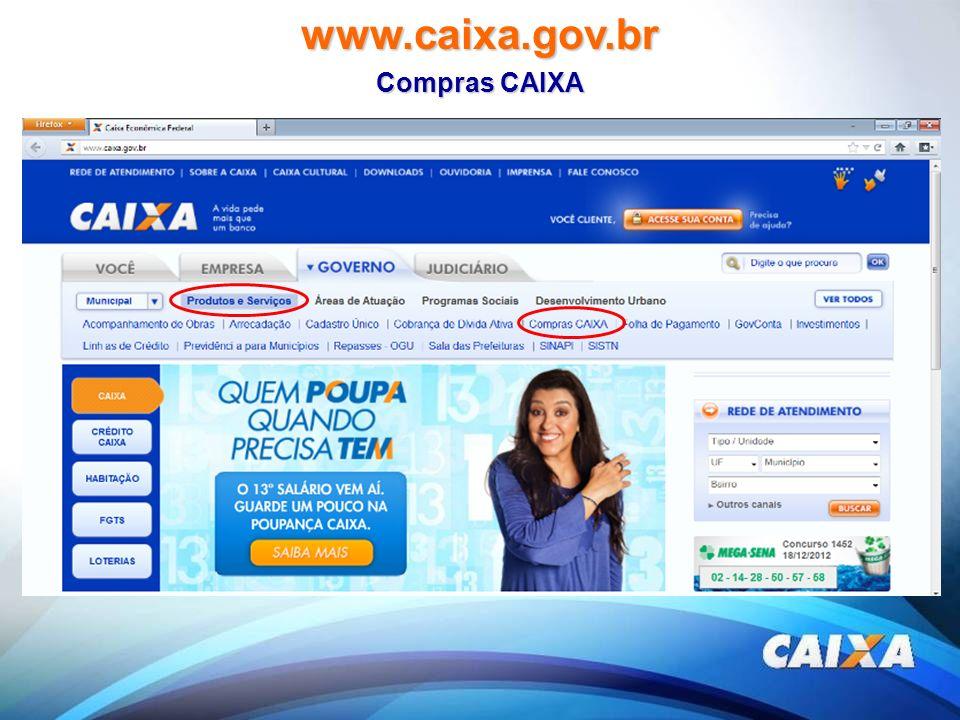 www.caixa.gov.br Compras CAIXA