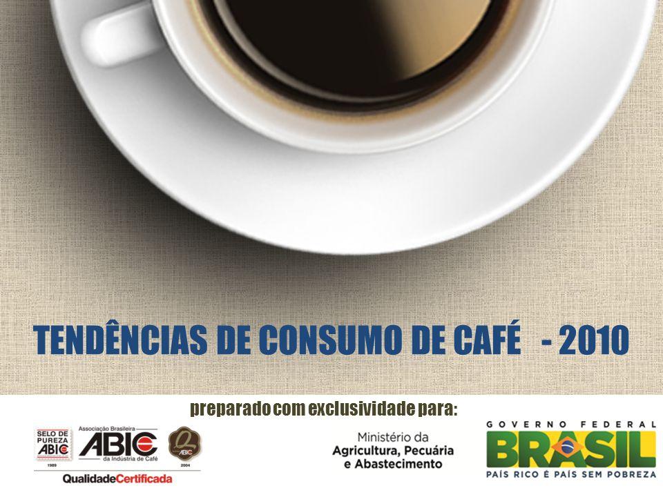 preparado com exclusividade para: TENDÊNCIAS DE CONSUMO DE CAFÉ - 2010