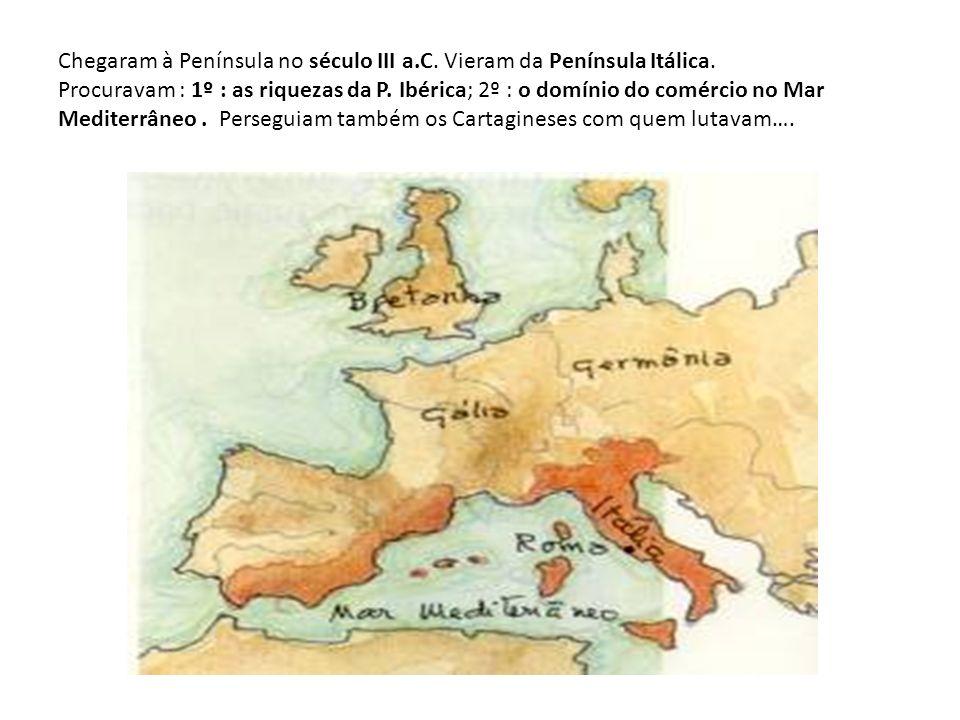 Reconstituição de uma cidade romana Legenda: 1 - Teatro; 2 - Fórum; 3 - Anfiteatro; 4 - Templo; 5 - Aqueduto; 6 - Ponte