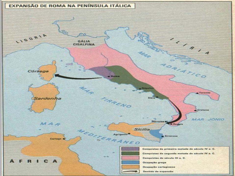 Numeração romana Desenvolveram a produção do trigo, salgas de peixe e trouxeram o latim e a numeração romana.