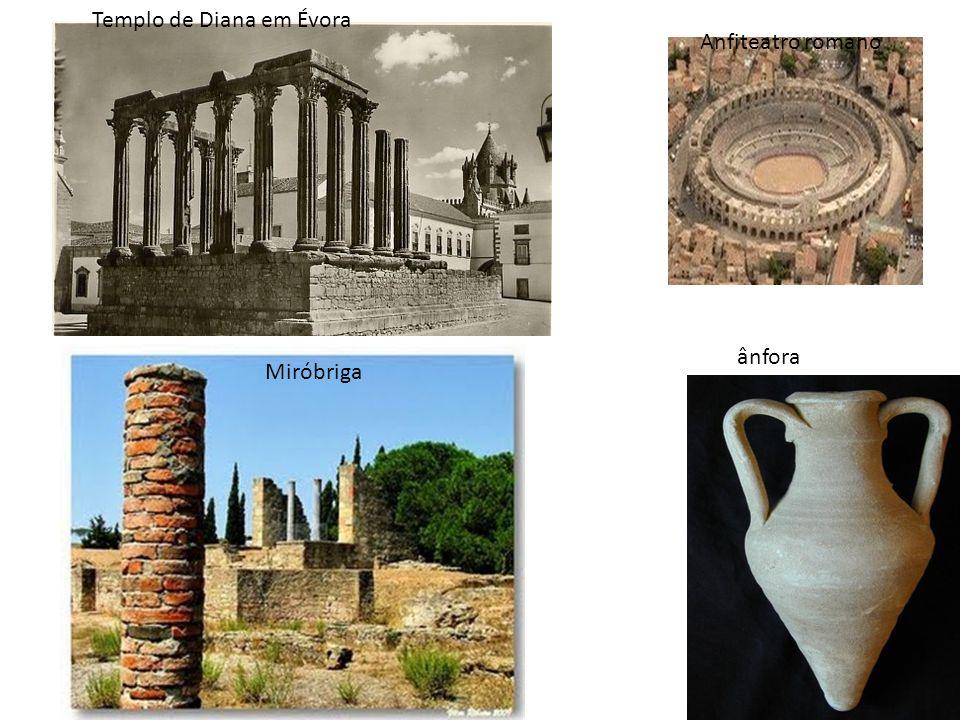 Templo de Diana em Évora Miróbriga Anfiteatro romano ânfora