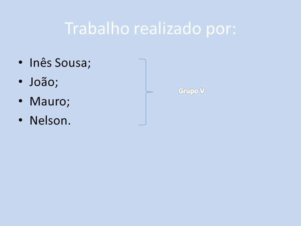Trabalho realizado por: Inês Sousa; João; Mauro; Nelson.