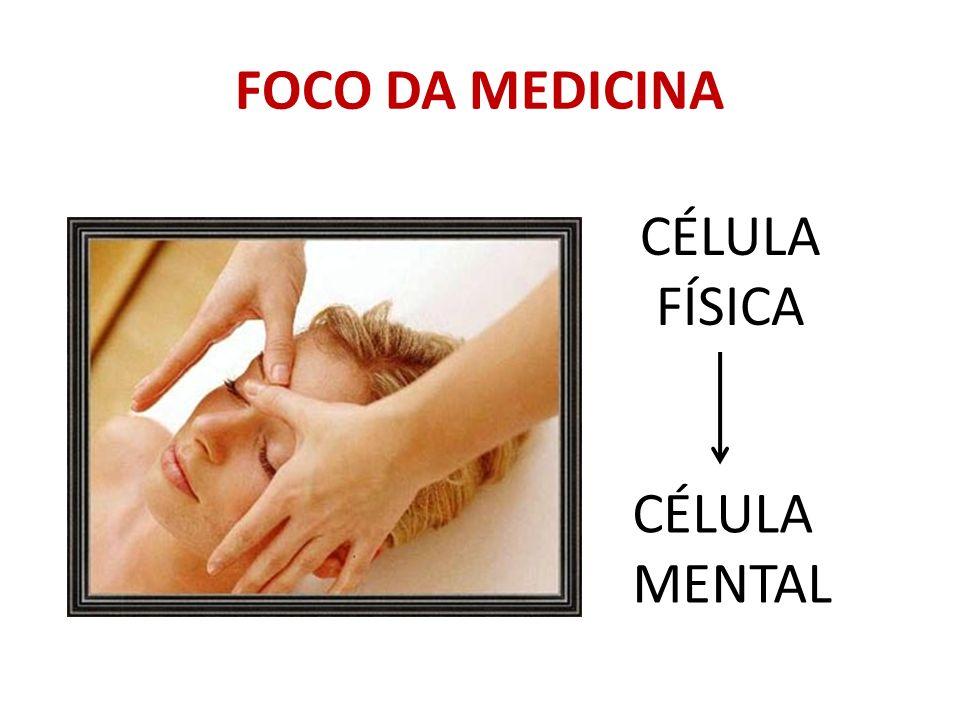 FOCO DA MEDICINA CÉLULA FÍSICA CÉLULA MENTAL