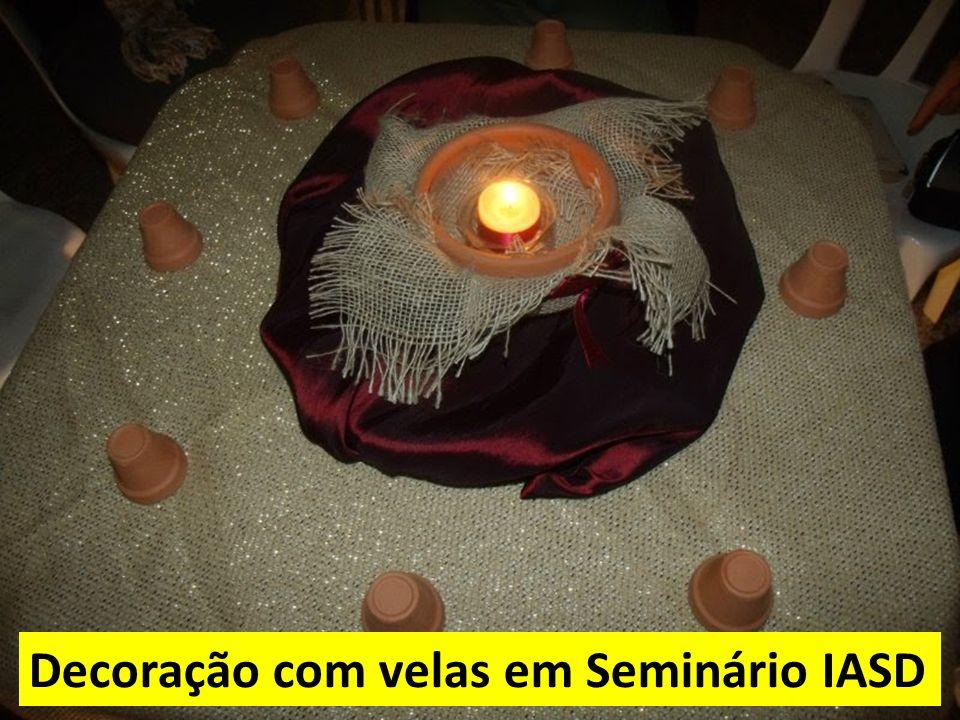 Decoração com velas em Seminário IASD
