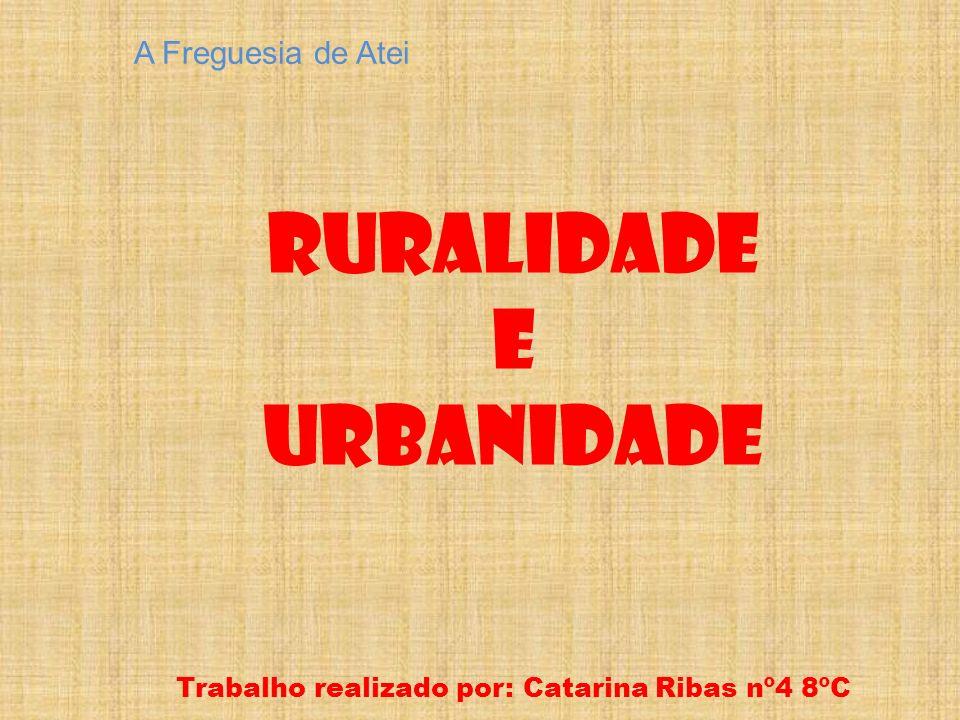 A Freguesia de Atei Ruralidade E Urbanidade Trabalho realizado por: Catarina Ribas nº4 8ºC