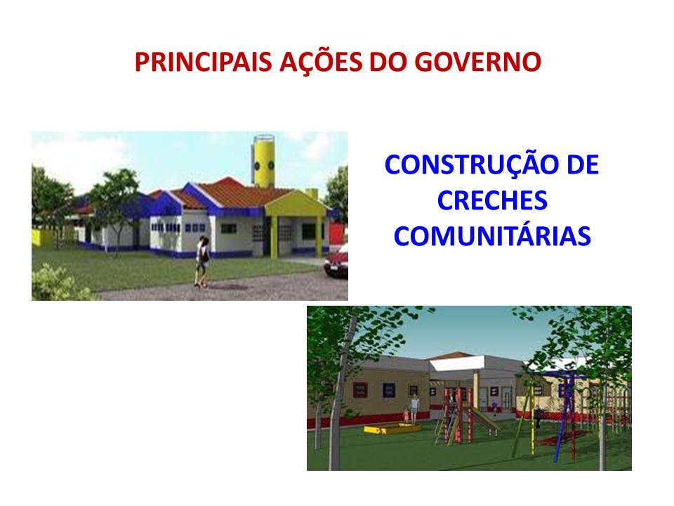 CONSTRUÇÃO DE CRECHES COMUNITÁRIAS PRINCIPAIS AÇÕES DO GOVERNO