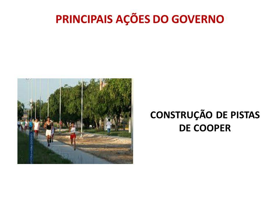 PRINCIPAIS AÇÕES DO GOVERNO CONSTRUÇÃO DE PISTAS DE COOPER