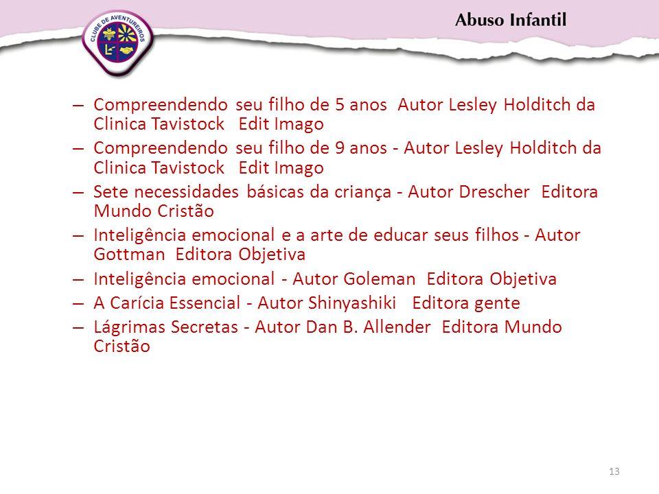 – Compreendendo seu filho de 5 anos Autor Lesley Holditch da Clinica Tavistock Edit Imago – Compreendendo seu filho de 9 anos - Autor Lesley Holditch
