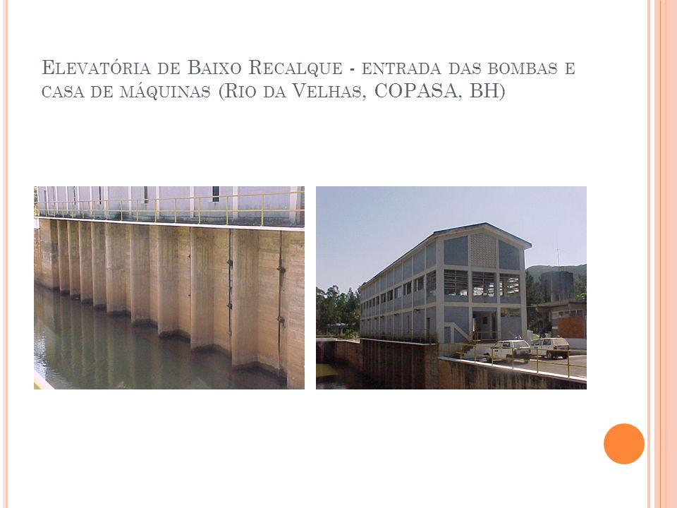 E LEVATÓRIA DE B AIXO R ECALQUE - ENTRADA DAS BOMBAS E CASA DE MÁQUINAS (R IO DA V ELHAS, COPASA, BH)