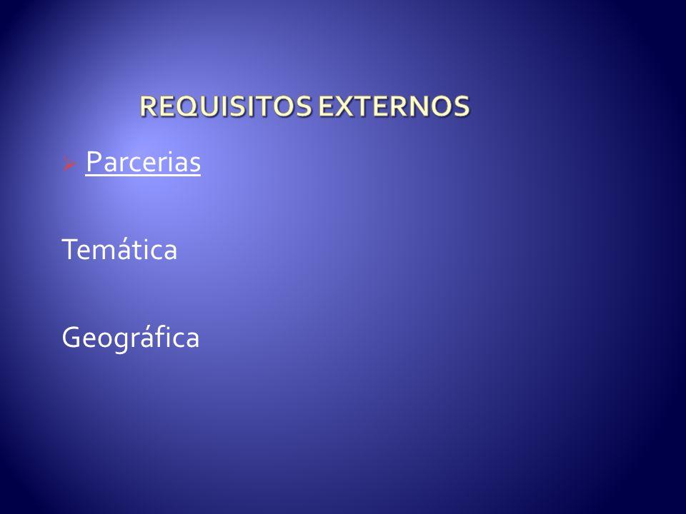 Parcerias Temática Geográfica