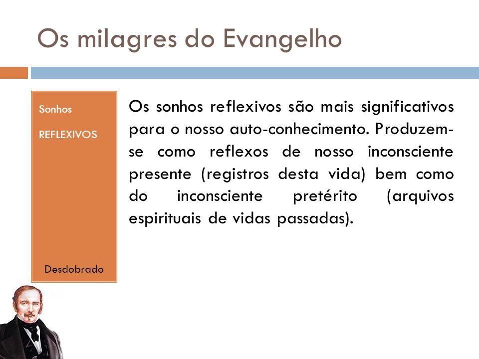 Os milagres do Evangelho Sonhos REFLEXIVOS Os sonhos reflexivos são mais significativos para o nosso auto-conhecimento.