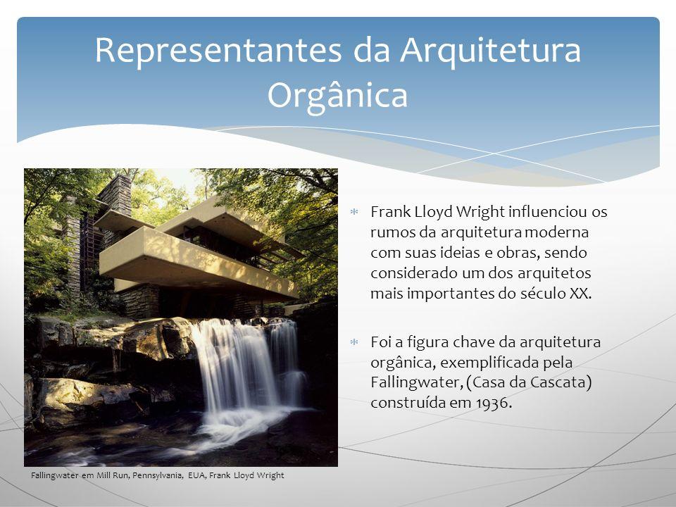 F rank Lloyd Wright influenciou os rumos da arquitetura moderna com suas ideias e obras, sendo considerado um dos arquitetos mais importantes do século XX.