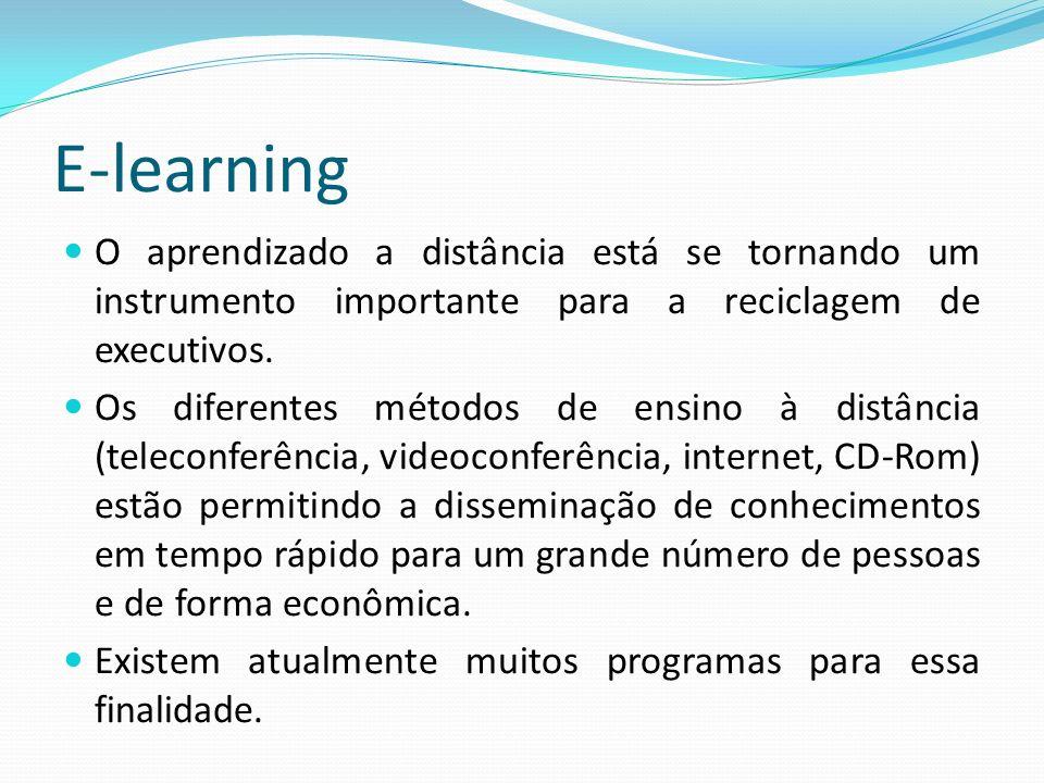 O aprendizado a distância está se tornando um instrumento importante para a reciclagem de executivos. Os diferentes métodos de ensino à distância (tel