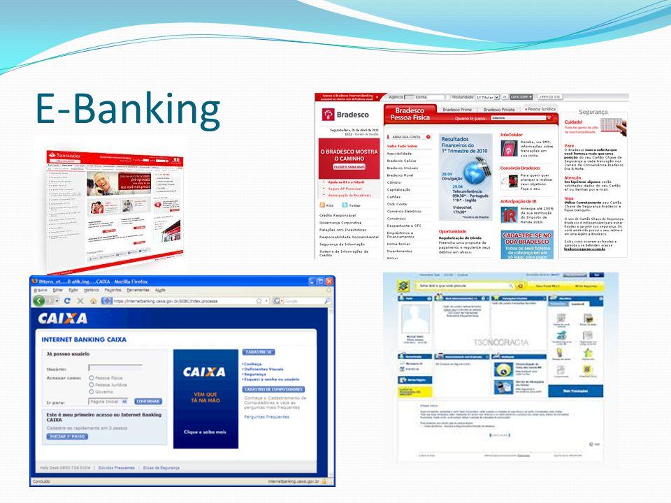 O banco eletrônico é um dos negócios mais bem sucedidos on-line.