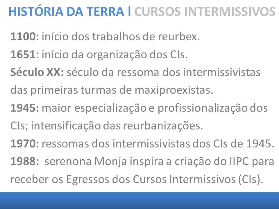 HISTÓRIA DA TERRA l CURSOS INTERMISSIVOS 1988: IIPC - Parapedagogia na dimensão intrafísica: Interação Parapedagógica CI – IC.
