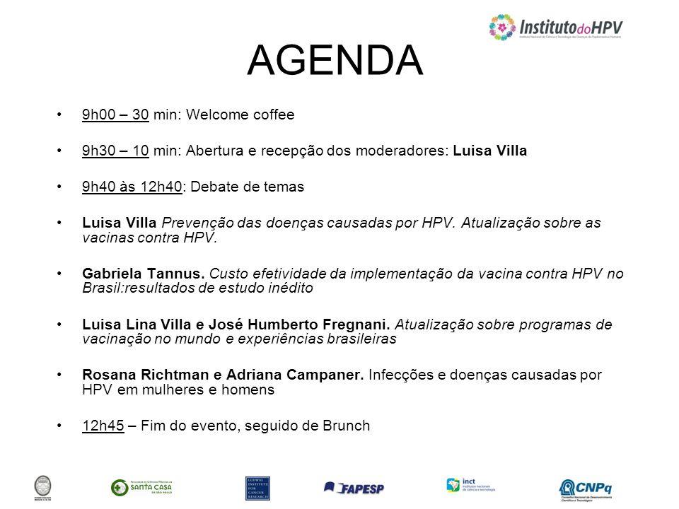 AGENDA 9h00 – 30 min: Welcome coffee 9h30 – 10 min: Abertura e recepção dos moderadores: Luisa Villa 9h40 às 12h40: Debate de temas Luisa Villa Preven