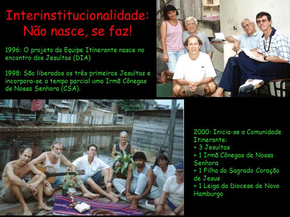 2000: Inicia-se a Comunidade Itinerante: + 3 Jesuítas + 1 Irmã Cônegas de Nossa Senhora + 1 Filha do Sagrado Coração de Jesus + 1 Leiga da Diocese de