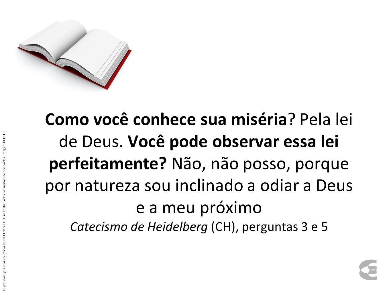 Como você conhece sua miséria? Pela lei de Deus. Você pode observar essa lei perfeitamente? Não, não posso, porque por natureza sou inclinado a odiar