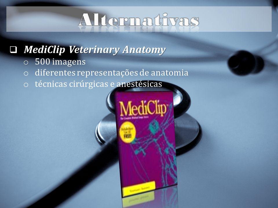 MediClip Veterinary Anatomy MediClip Veterinary Anatomy o o 500 imagens o diferentes representações de anatomia o técnicas cirúrgicas e anestésicas