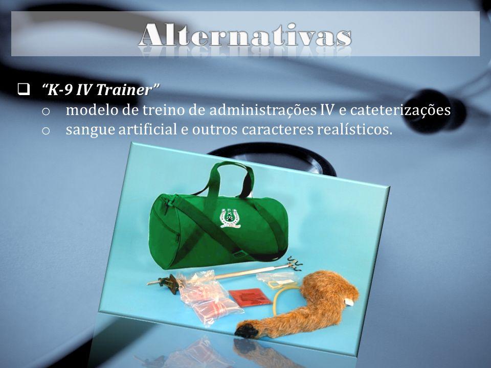 K-9 IV Trainer K-9 IV Trainer o modelo de treino de administrações IV e cateterizações o sangue artificial e outros caracteres realísticos.