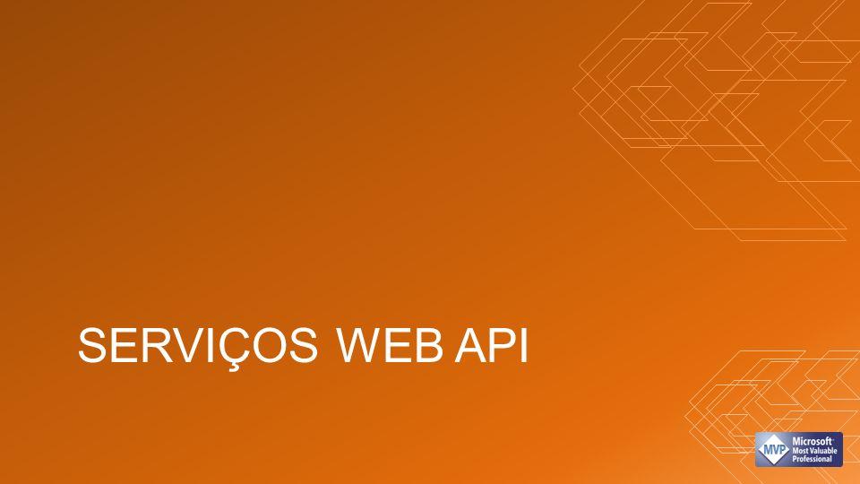 ACESSO A DADOS VIA WEB API Dados (SQL) Serviços Win 8 WP 8 Apps JSON/XML