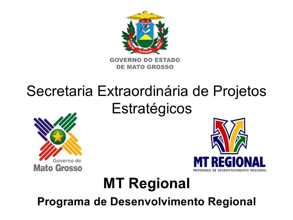 Secretaria Extraordinária de Projetos Estratégicos MT Regional Programa de Desenvolvimento Regional