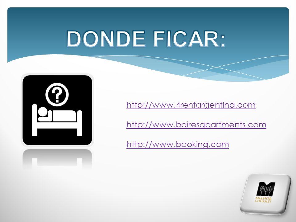 http://www.4rentargentina.com http://www.bairesapartments.com http://www.booking.com