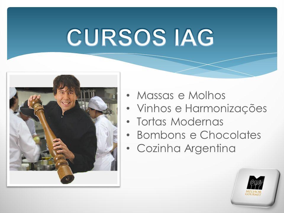 Massas e Molhos Vinhos e Harmonizações Tortas Modernas Bombons e Chocolates Cozinha Argentina