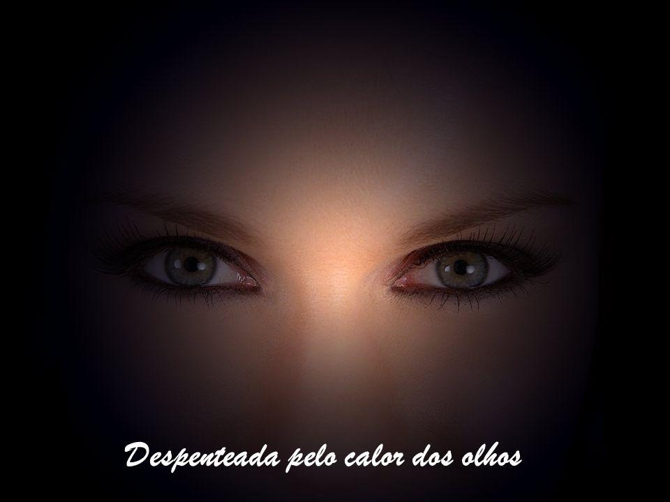 E o coração do sol se assombra Cai sobre a máscara do marCai sobre as pálpebras da boneca Despenteada pelo calor dos olhos