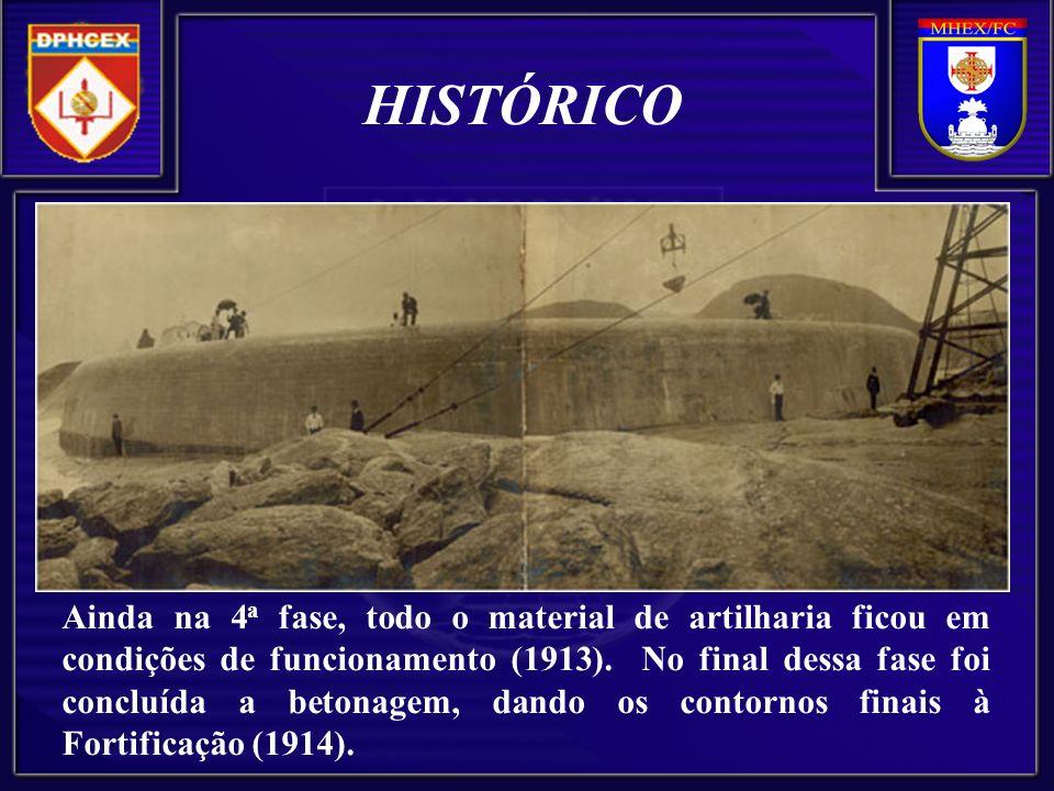 Ainda na 4 a fase, todo o material de artilharia ficou em condições de funcionamento (1913).