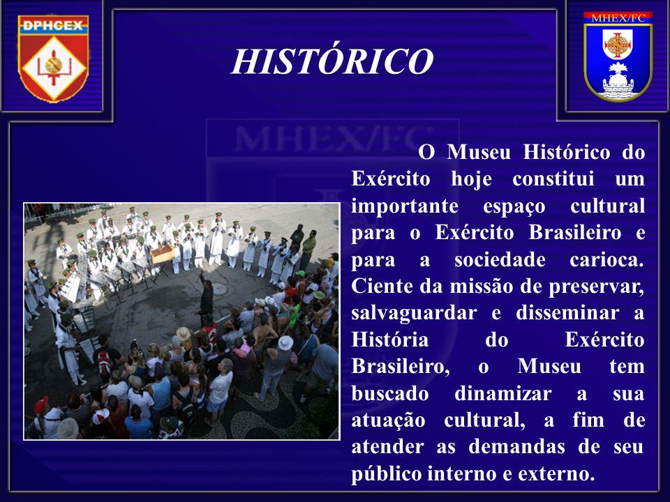 O Museu Histórico do Exército hoje constitui um importante espaço cultural para o Exército Brasileiro e para a sociedade carioca.