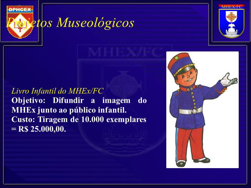 Livro Infantil do MHEx/FC Objetivo: Difundir a imagem do MHEx junto ao público infantil.