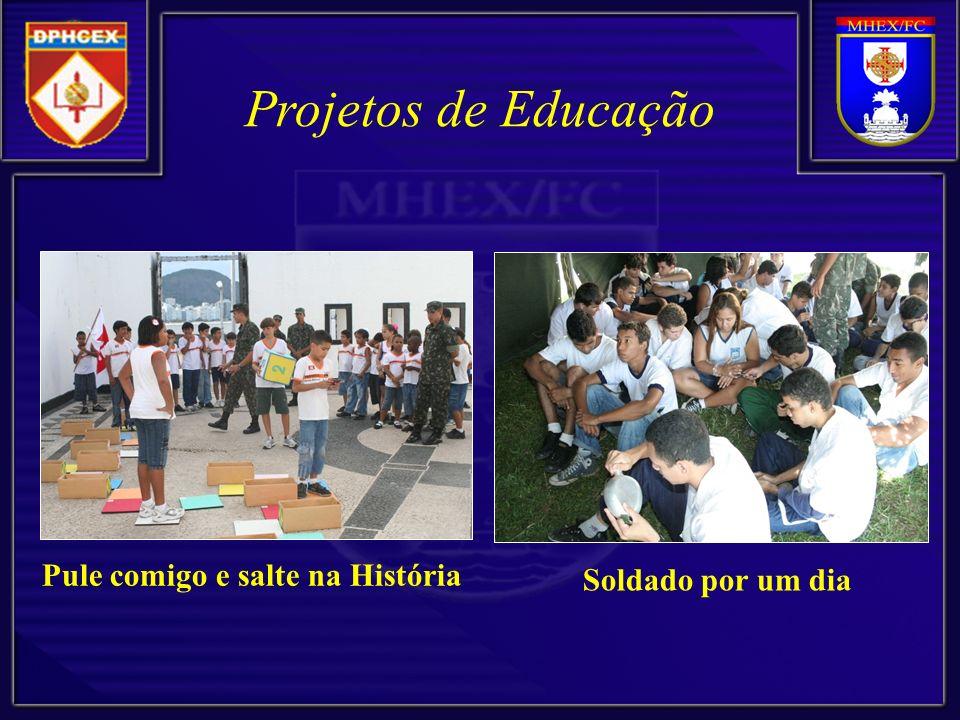 Projetos de Educação Soldado por um dia Pule comigo e salte na História