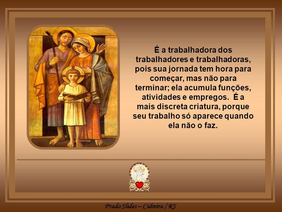 Prado Slides – Cidreira / RS A dona de casa, mesmo que a casa seja alugada, emprestada ou na favela, é o ser pensante do comunitário, a organizadora e