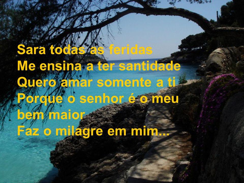 994 Sara todas as feridas Me ensina a ter santidade Quero amar somente a ti Porque o senhor é o meu bem maior Faz o milagre em mim...