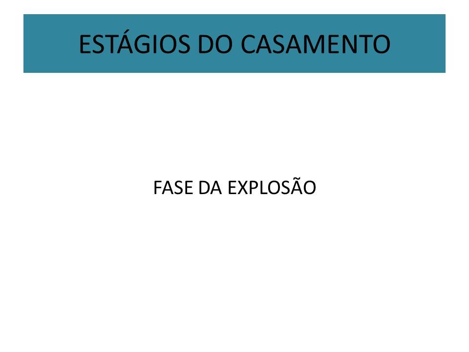ESTÁGIOS DO CASAMENTO FASE DA EXPLOSÃO