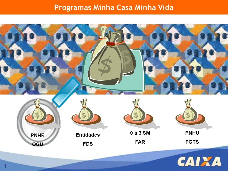 1 Programas Minha Casa Minha Vida 0 a 3 SM FAR PNHR OGU Entidades FDS PNHU FGTS