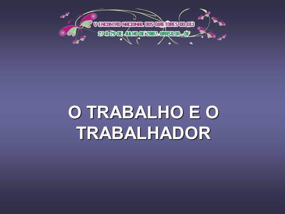 O TRABALHO E O TRABALHADOR