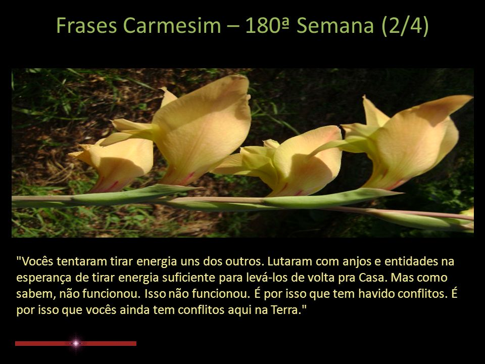 Frases Carmesim – 180ª Semana (1/4) Ao longo de suas inúmeras jornadas, queridos amigos, não havia lembrança real de Casa.