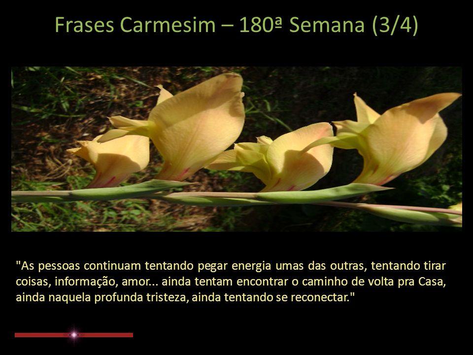 Frases Carmesim – 180ª Semana (2/4) Vocês tentaram tirar energia uns dos outros.
